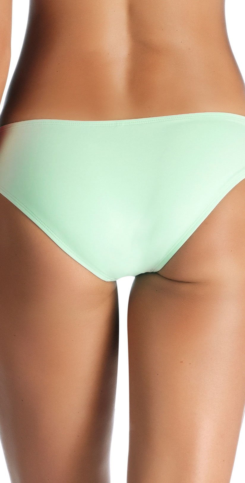 Vitamin A Emelia EcoLux Triple Strap Bottom in Glacier 717B GLE back of bottoms only