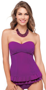 Profile by Gottex Starlet Tankini Top in Purple E402-1B04-531: