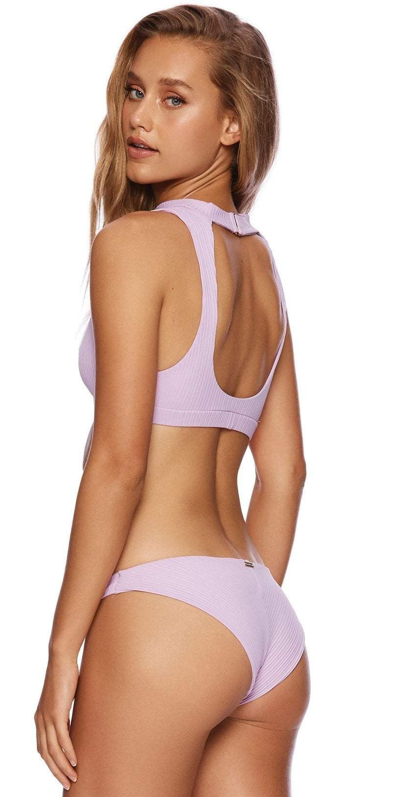 Beach Bunny Gwen High Neck Bikini Top in Lavender B19112T5-LAV: