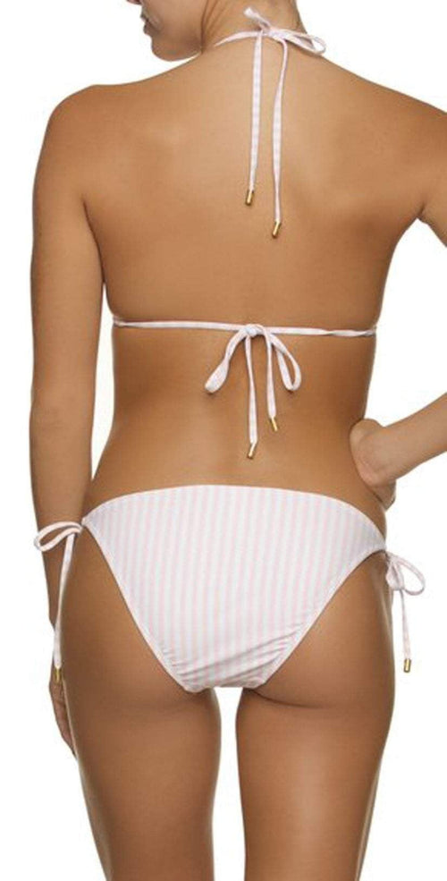 Helen Jon Pink and White Stripe String Bikini Bottom HJLE-0306-PWP: