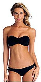 Vitamin A EcoLux Bikini Bottom in Black 49B ECB: