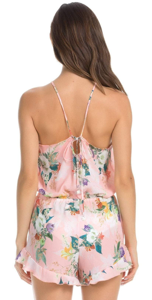 Isabella Rose Blossoms Romper in Pink Floral 4934984-MUL: