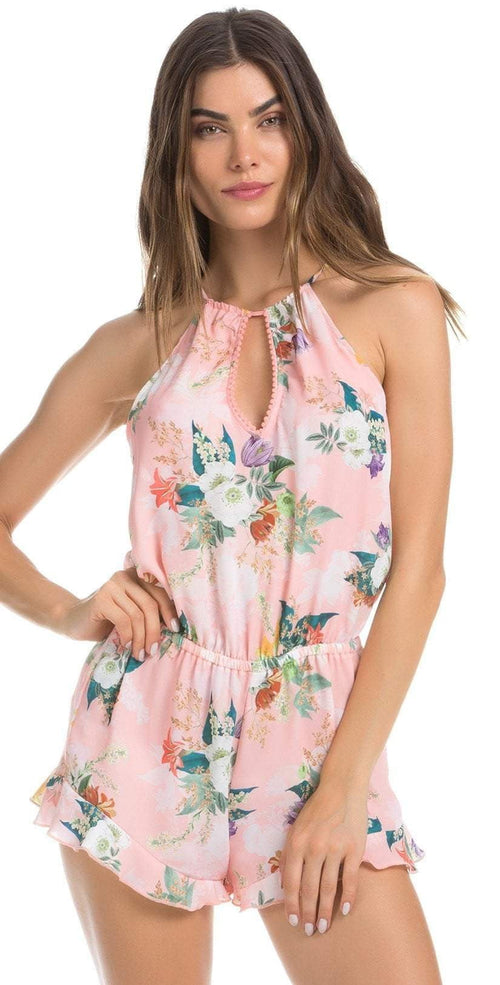 Isabella Rose Blossoms Romper in Pink Floral 4934984-MUL