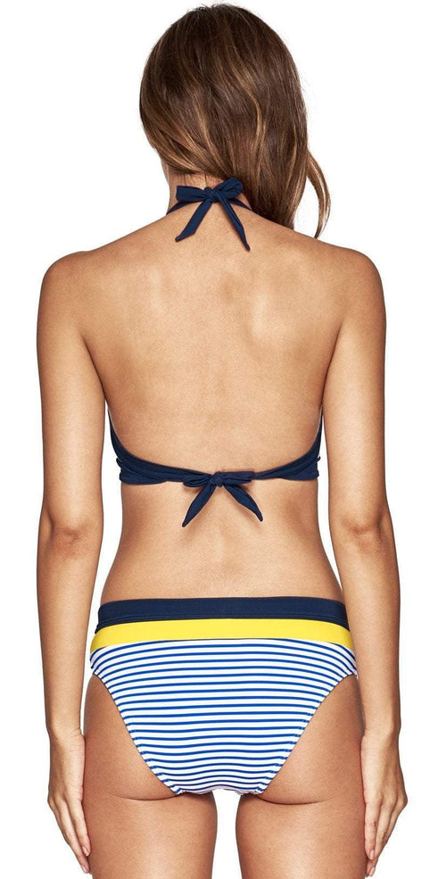 Jets Panama Plunge Lace Up Bra Bikini Top Back View