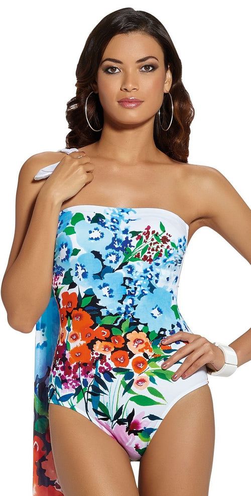 884d096c23 Rodial Amapola Katel Bandeau One Piece Swimsuit 386/06