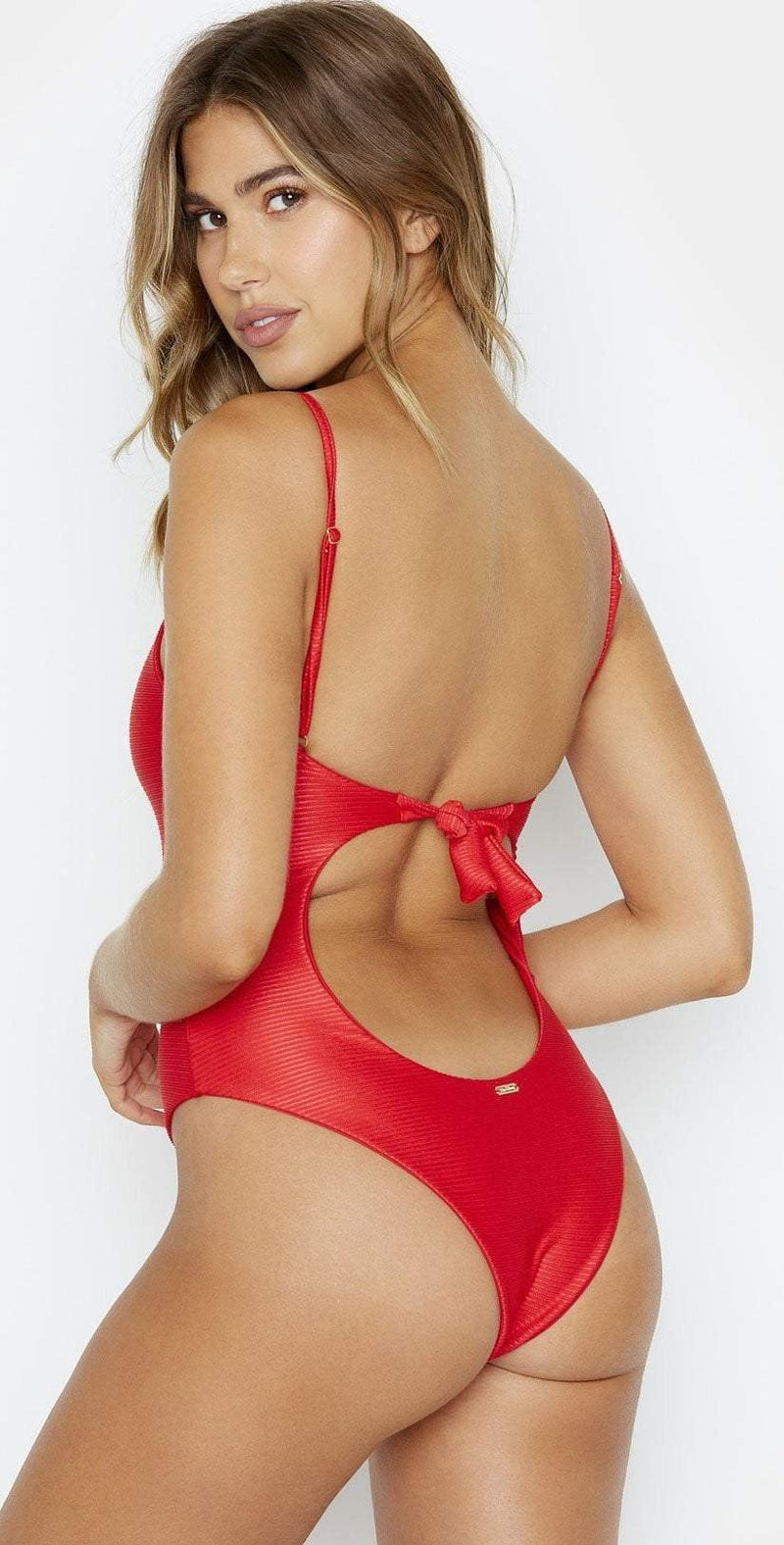 Beach Bunny Katrina Red One Piece Swimsuit B191471P REDD: