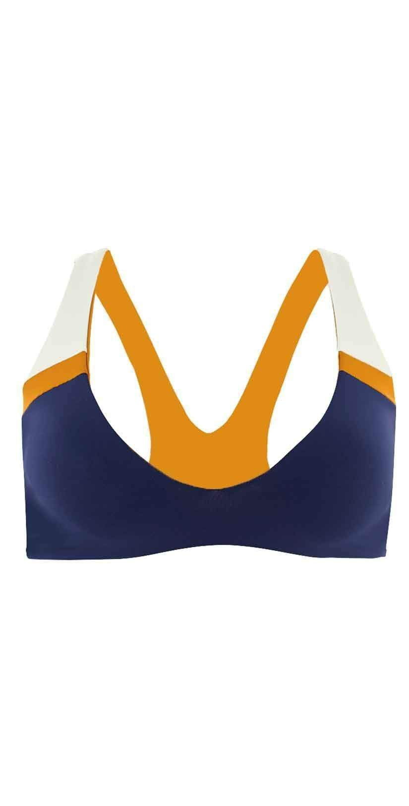 L Space Color Block Rylie Top In Midnight Blue CBRBT18-MDB: