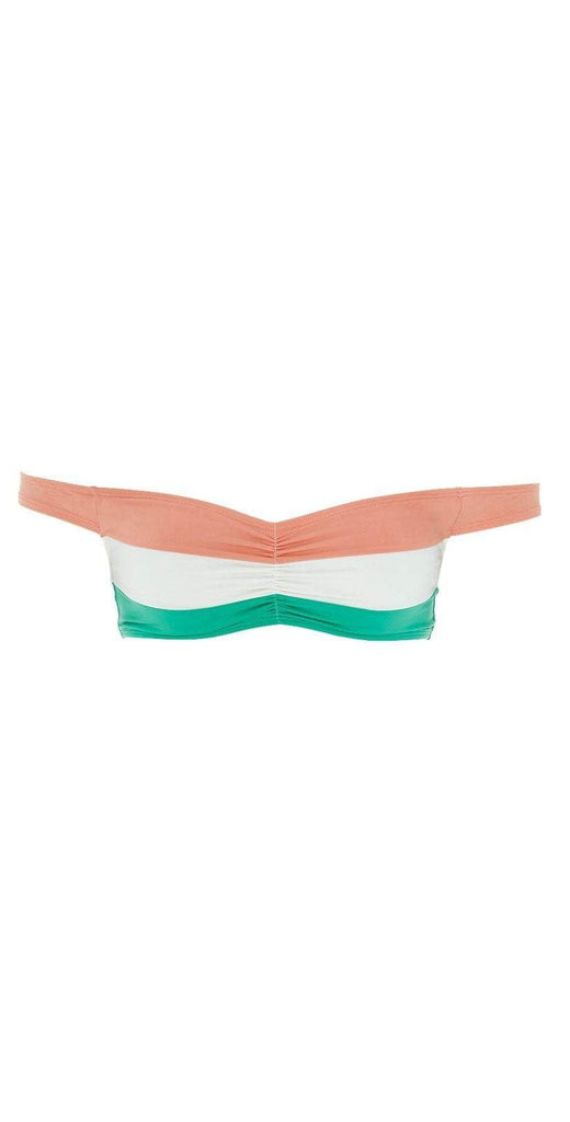 L Space Color Block Ziggy Top in Spearmint Flat Lay