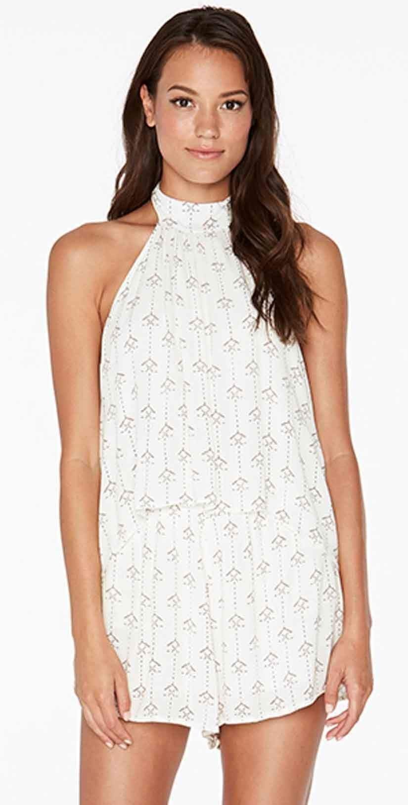 L Space Kelly Native Geo Romper in Ivory KENJU18-IVO: