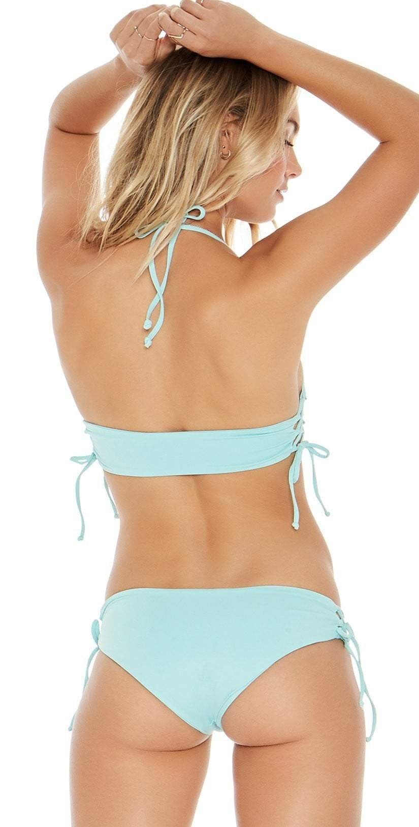 L Space Ella Bottom In Light Turquoise LSEAC18-LIT back view
