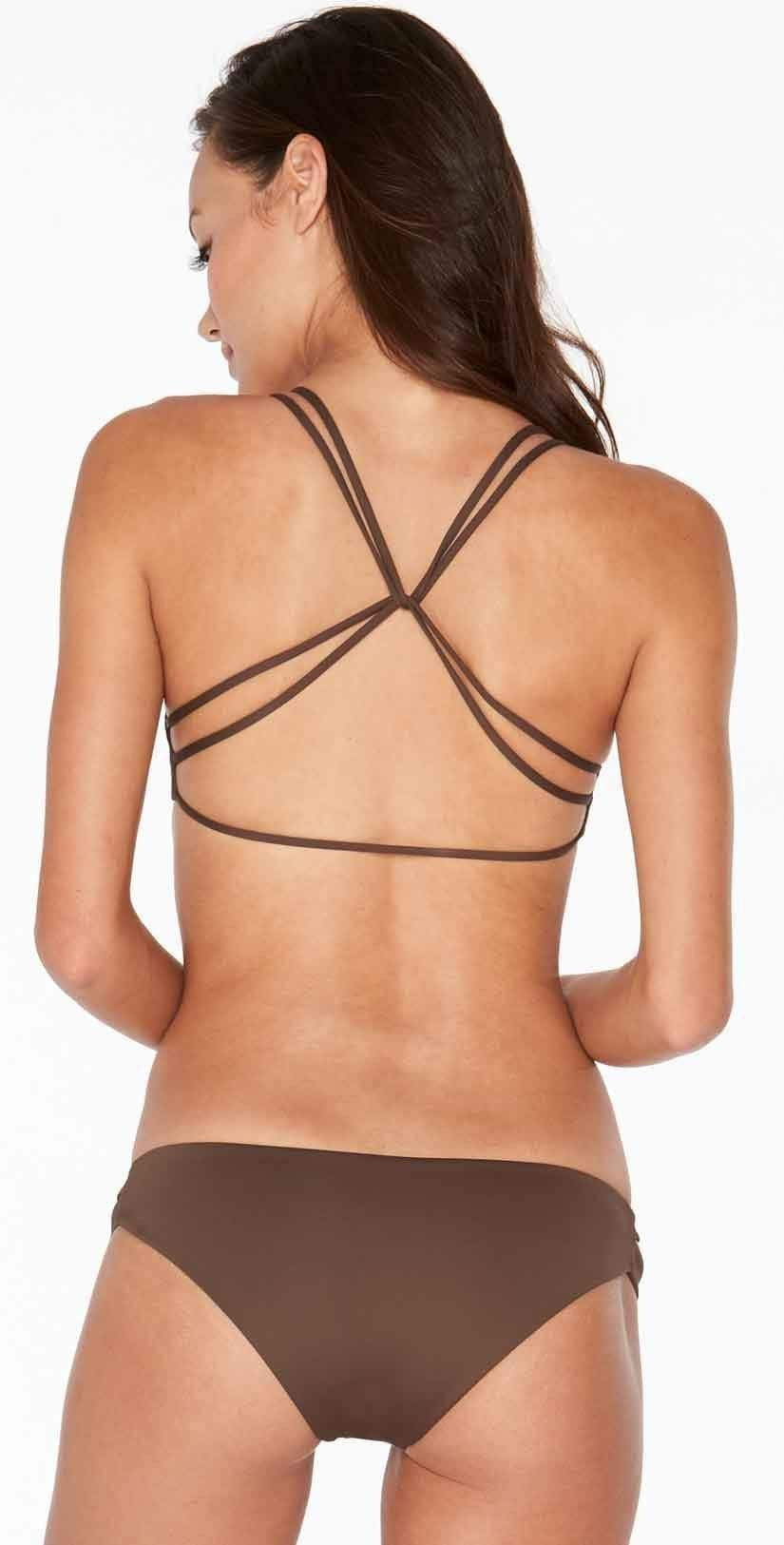 L Space Estella Classic Cut Bottom In Chocolate SS32C14-CHO back studio