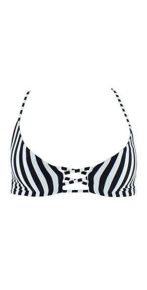 L Space Flynne Reversible Domino Stripe Top LSFLT18-DST: