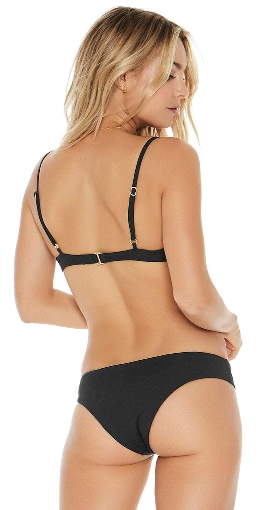L Space Ridin' High Pixie Bottom in Black RHPIB17-BLK back view of top and bottom
