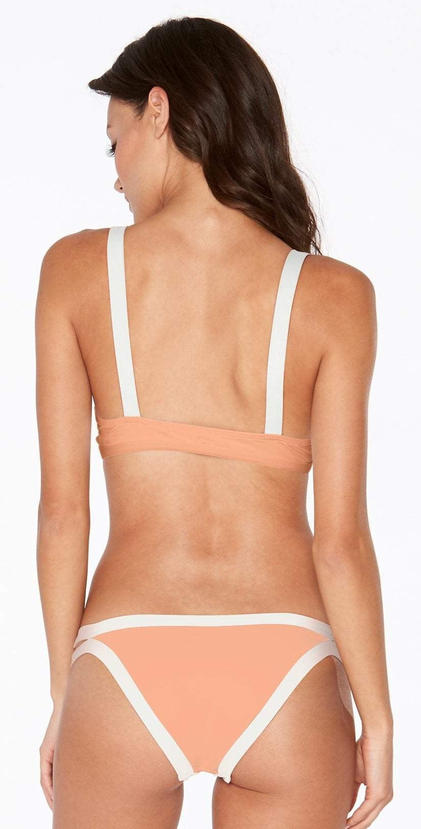L Space Farrah Top in Tropical Peach CBFAT18-TRP back view top and bottom