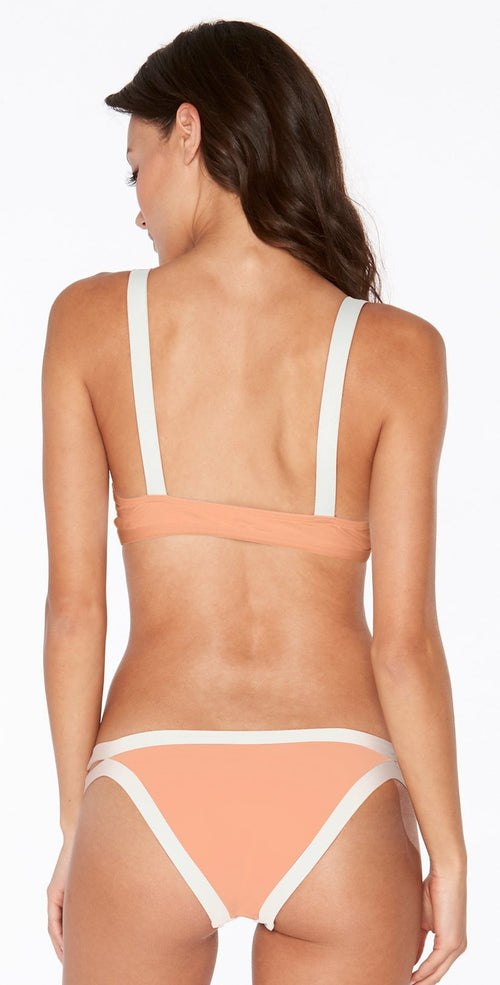 L Space Charlie Bottom In Tropical Peach CBCHC18-TRP back view top and bottom