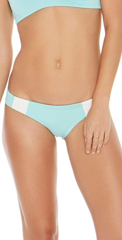 L Space Mia Color Block Reversible Light Turquoise Bottom CBMAC16-LIT