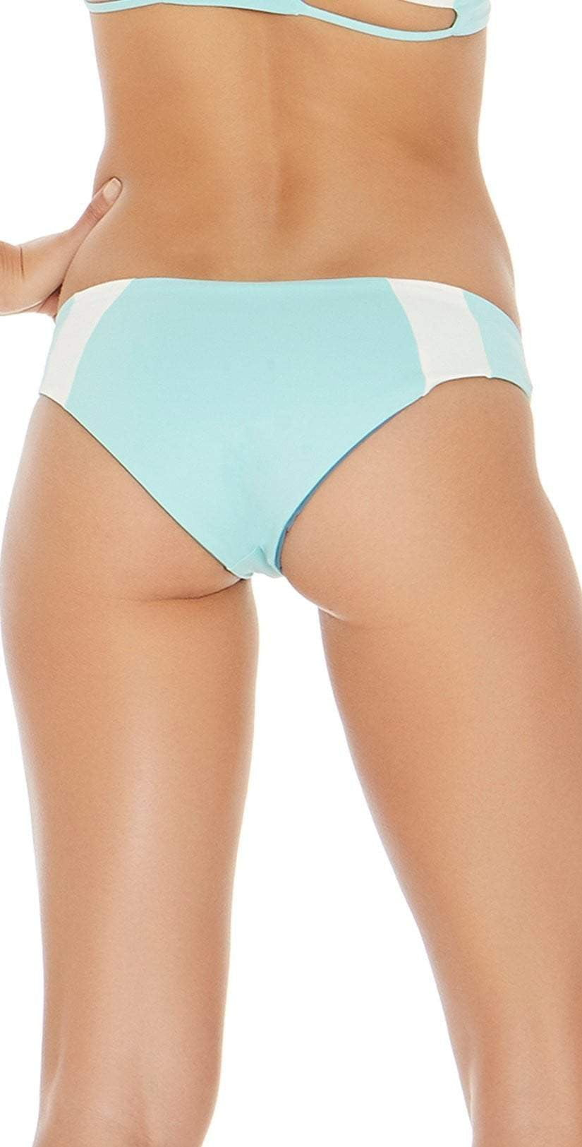 L Space Mia Color Block Reversible Bottom in Light Turquoise CBMAC16-LIT: