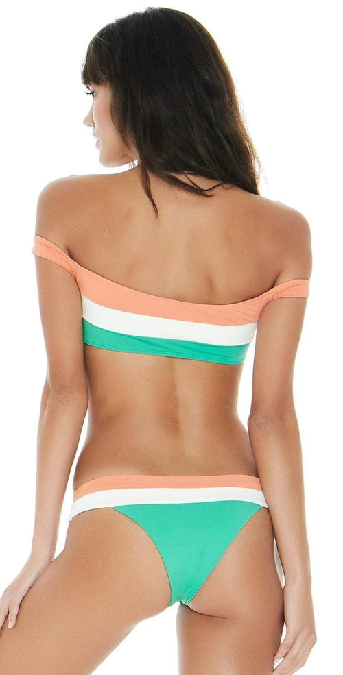 L Space Color Block Ziggy Top in Spearmint Back View