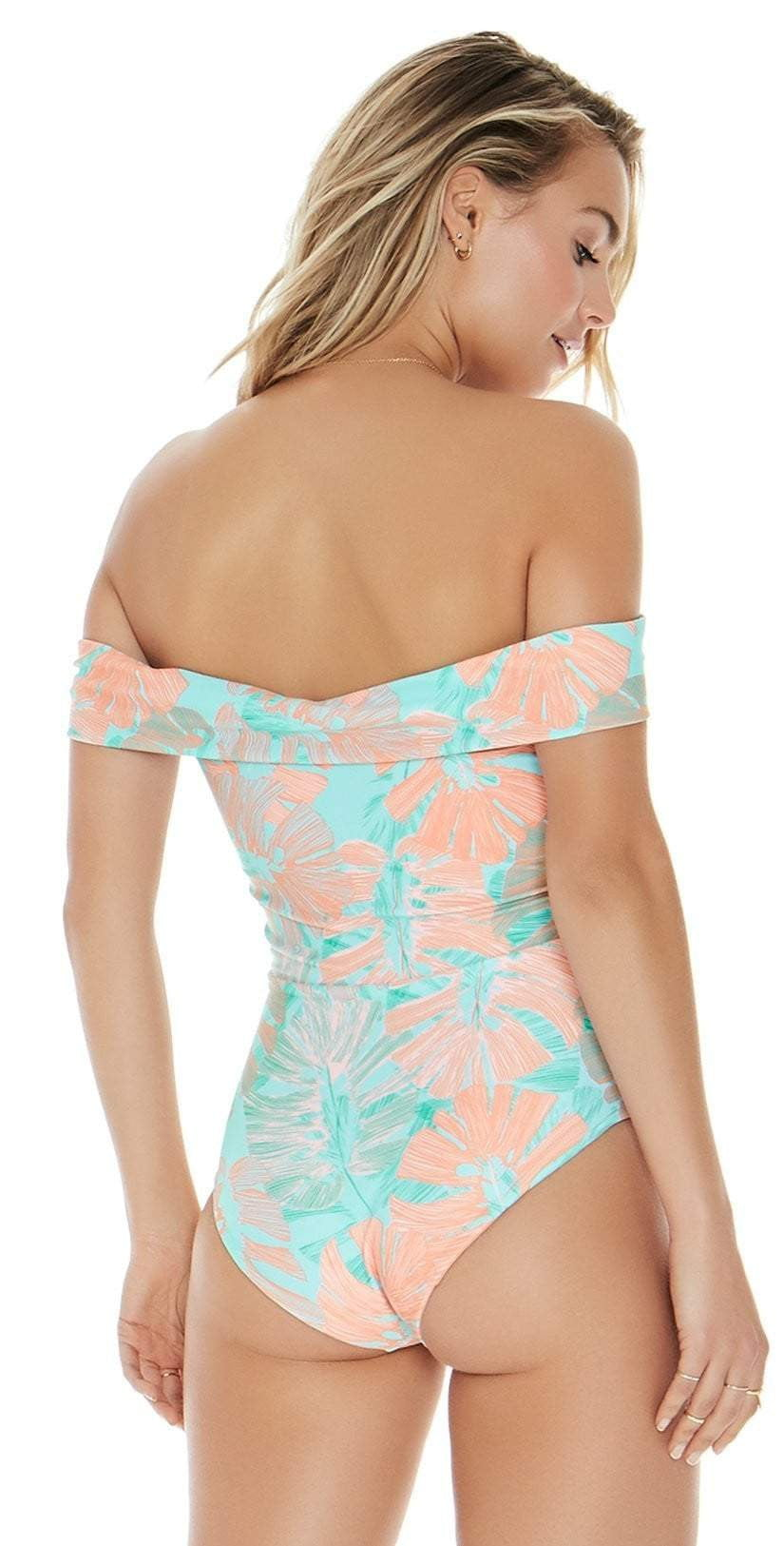 L Space Anja One Piece In Bungalow Palm MTAJMC18-BGP: