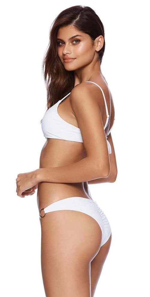 Beach Bunny Nadia Skimpy Bikini Bottom B19117B1 White back view