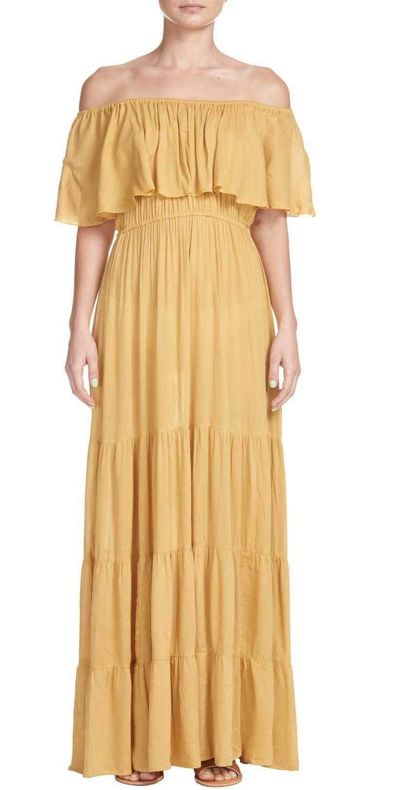 Elan Long Maxi In Mustard RG5463 MUS: