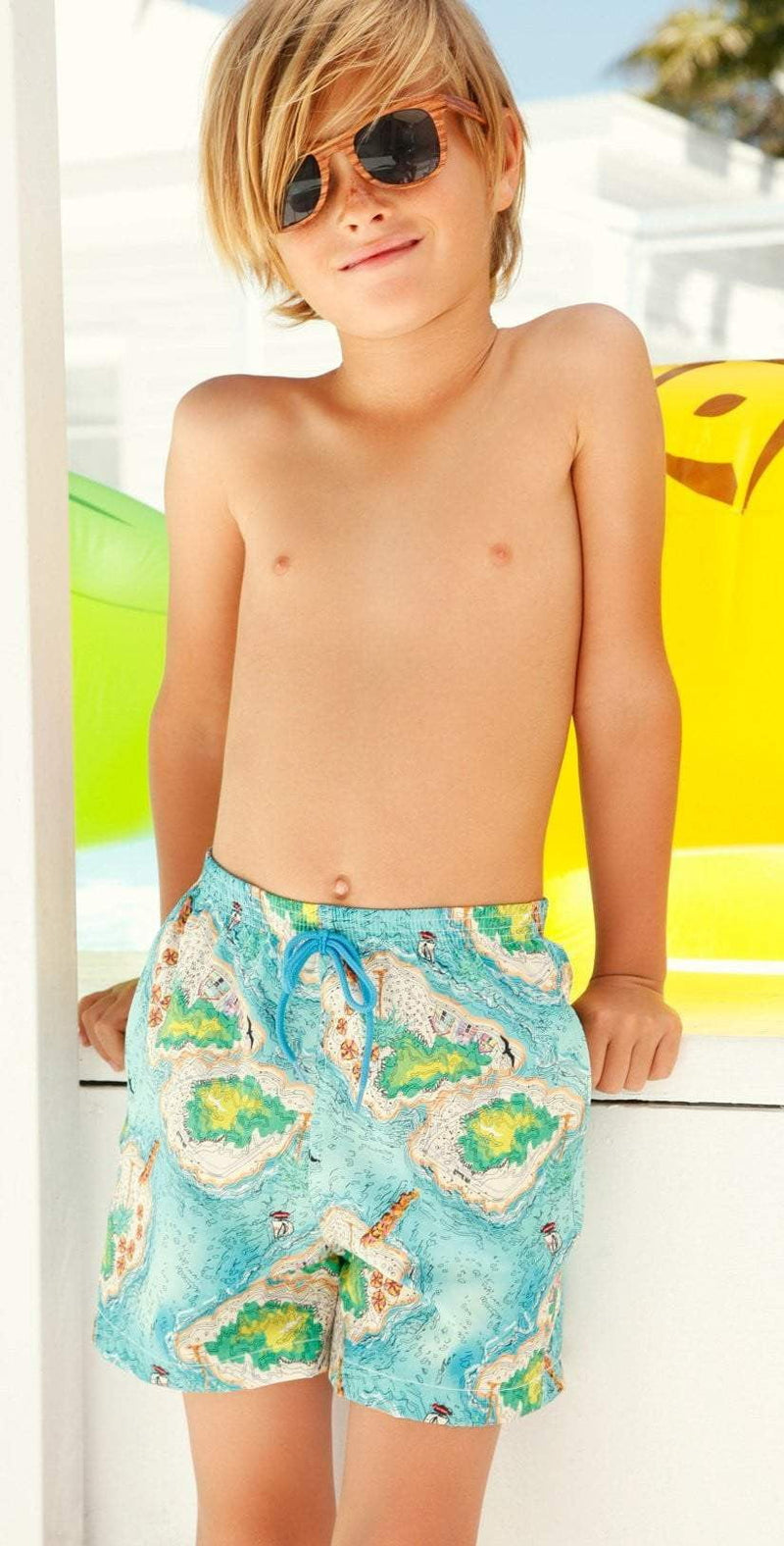 Little Peixoto Boys Swim Trunks In Island Hopping B800-P61: