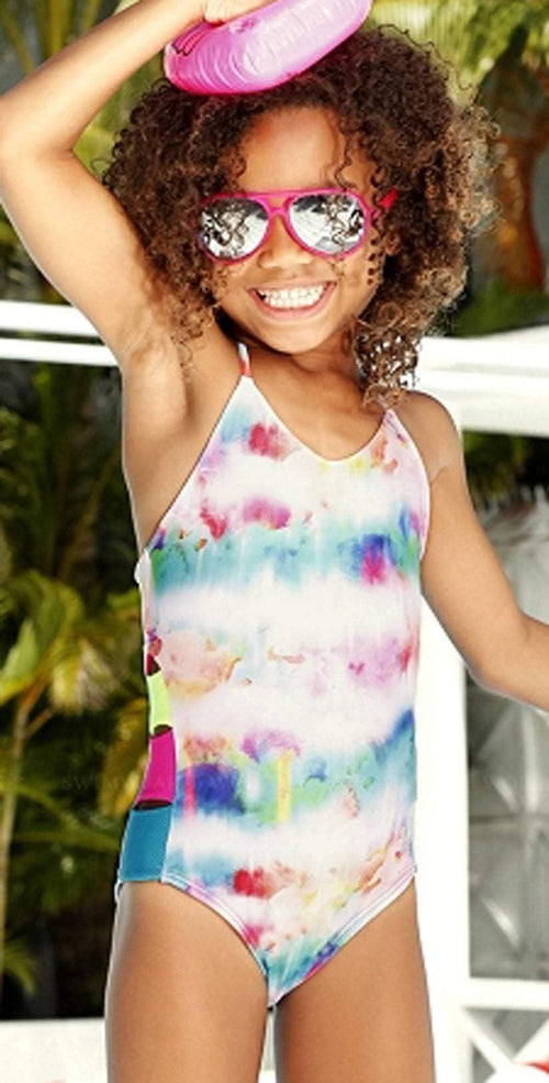 Little Peixoto Girls Zoe One Piece in Sunrise Tie Dye 51806-P62: