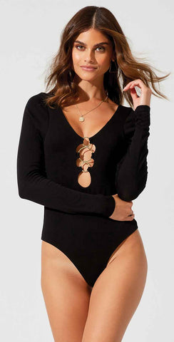 Beach Bunny Lolo Bodysuit in Black