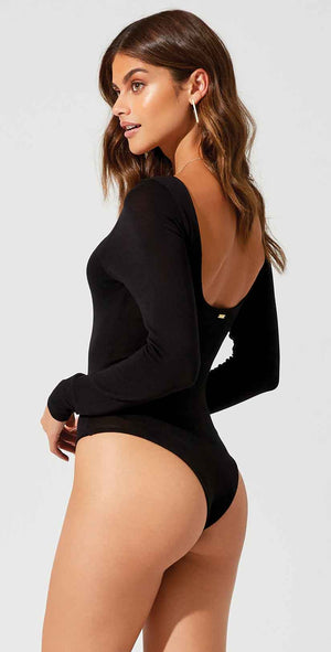 Beach Bunny Lolo Bodysuit in Black: