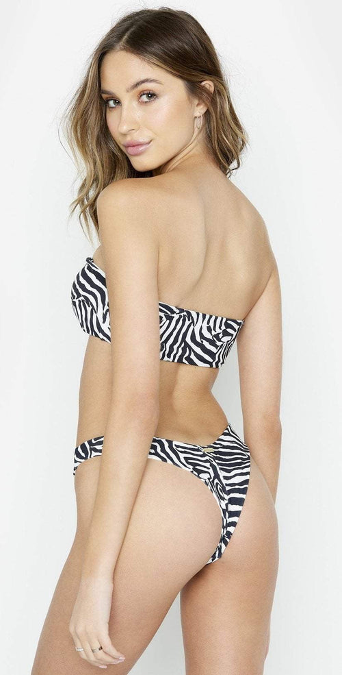 Beach Bunny London Bralette Bikini Top in Zebra Back View