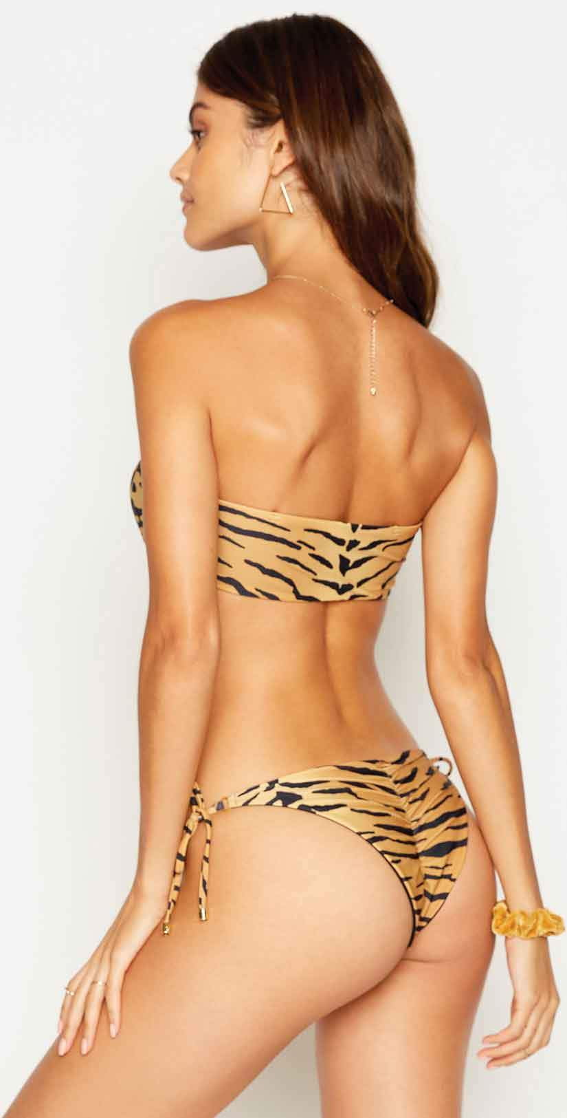 Beach Bunny London Bralette Top in Tiger: