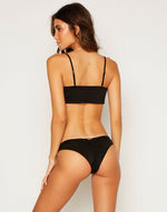 Angela Skimpy Bikini Bottom in Black - Back View