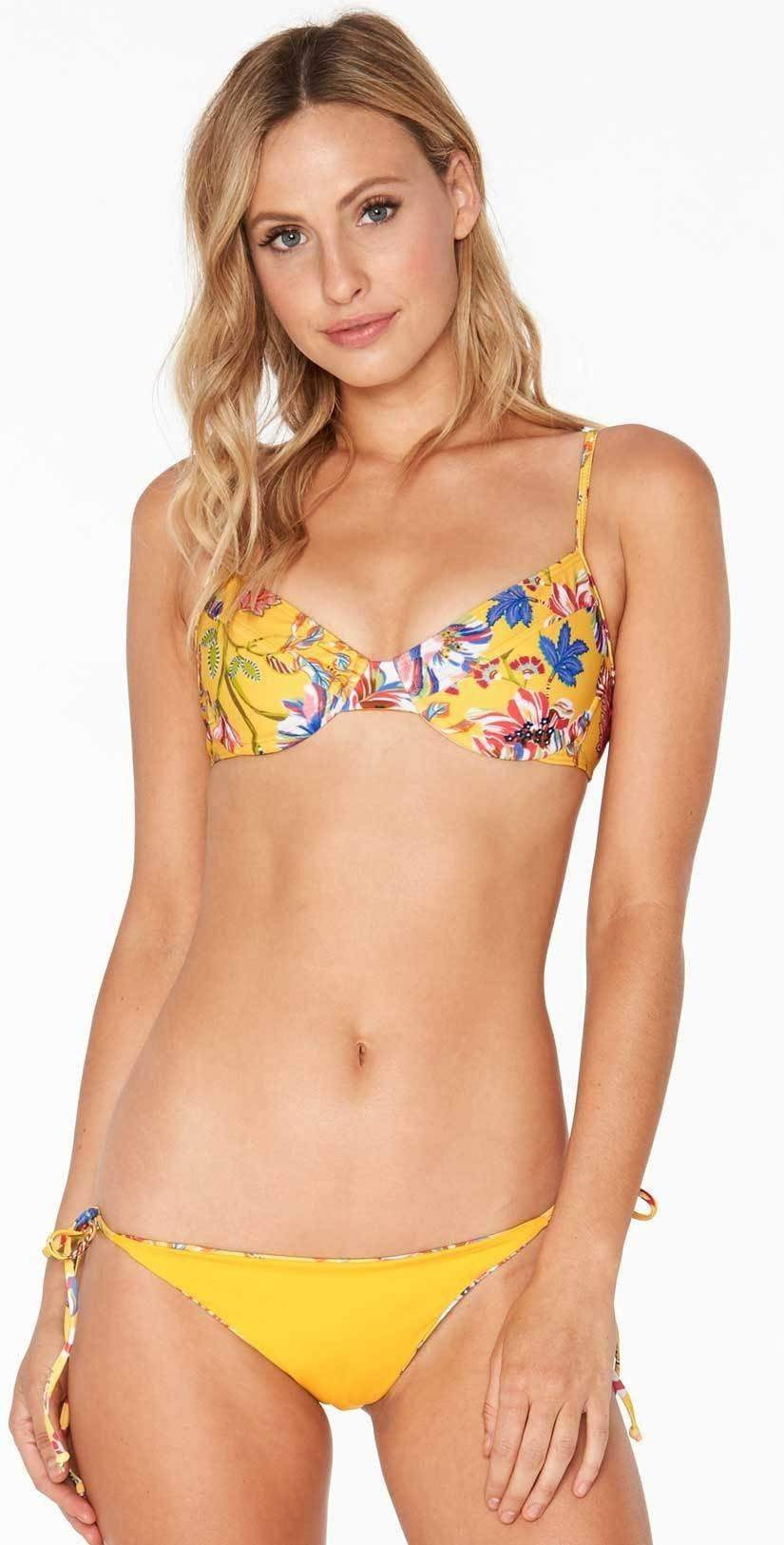 L Space Missy Pacific Bloom Top in Sunshine Gold PBMIT18-SUG:
