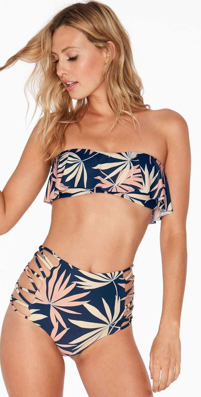 L Space Lynn Top in Polynesian Palm PNLYT18-NVY: