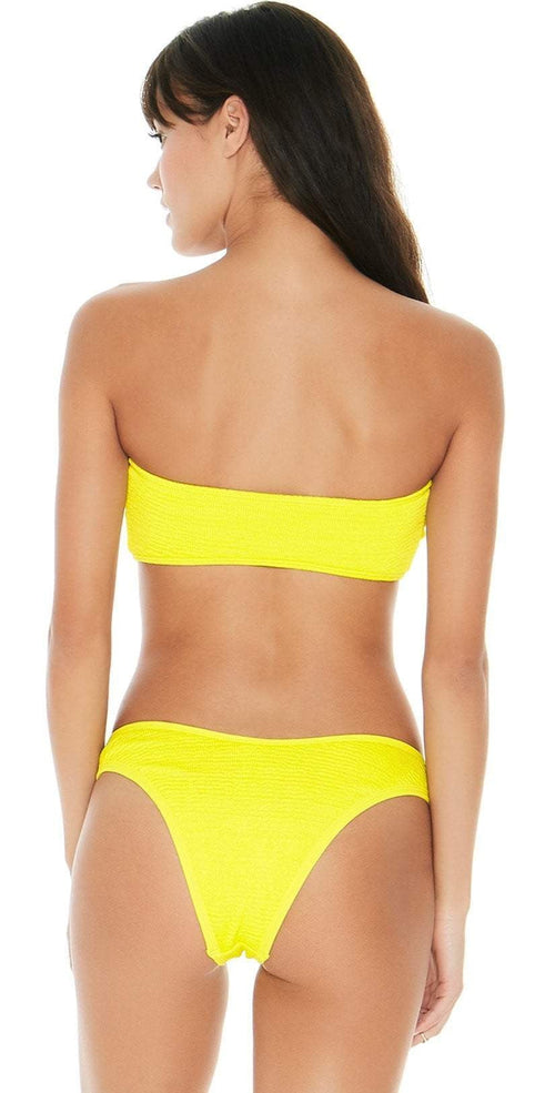 L Space Pucker Up Neon Yellow Kristen Bikini Top PKKST18-CAY back view of top and bottom