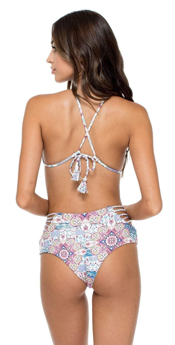Luli Fama Azucar Delicia Braided Sides High Waist Bottom L550A21-111