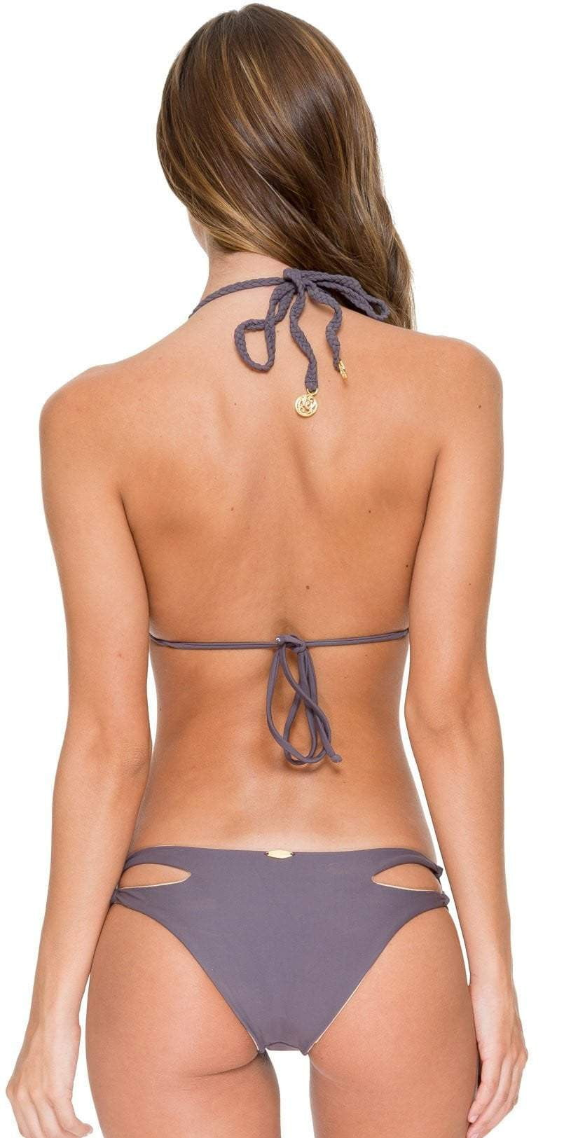 Luli Fama Cosita Buena Open Side Bottom in Piedra Gris L176551-441: