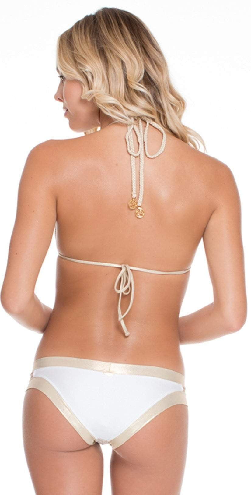 Luli Fama Desert Babe Triangle Halter L469230 back view top and bottom