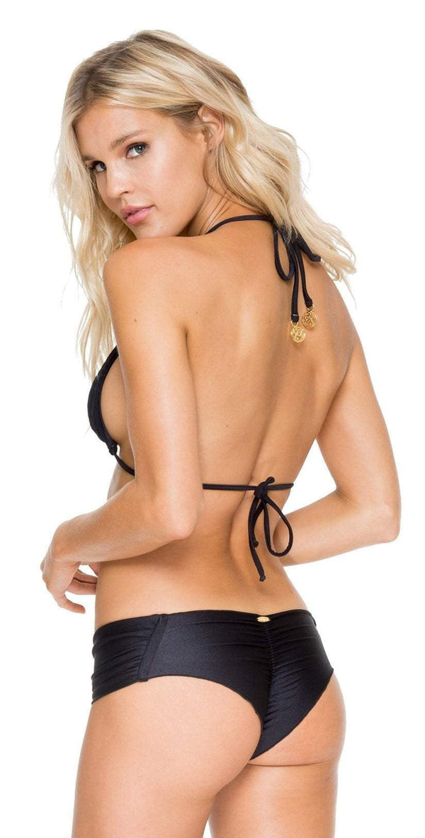 Luli Fama El Carnaval Scrunch Side Bottom In Black L543346-001
