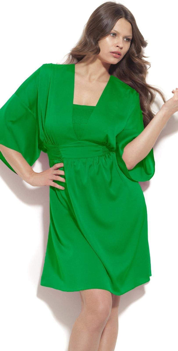 Gottex Mikado Leopard Dress in Green M03-612-316