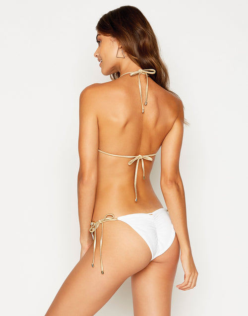 Beach Bunny Madagascar Glam Tri Top in White: