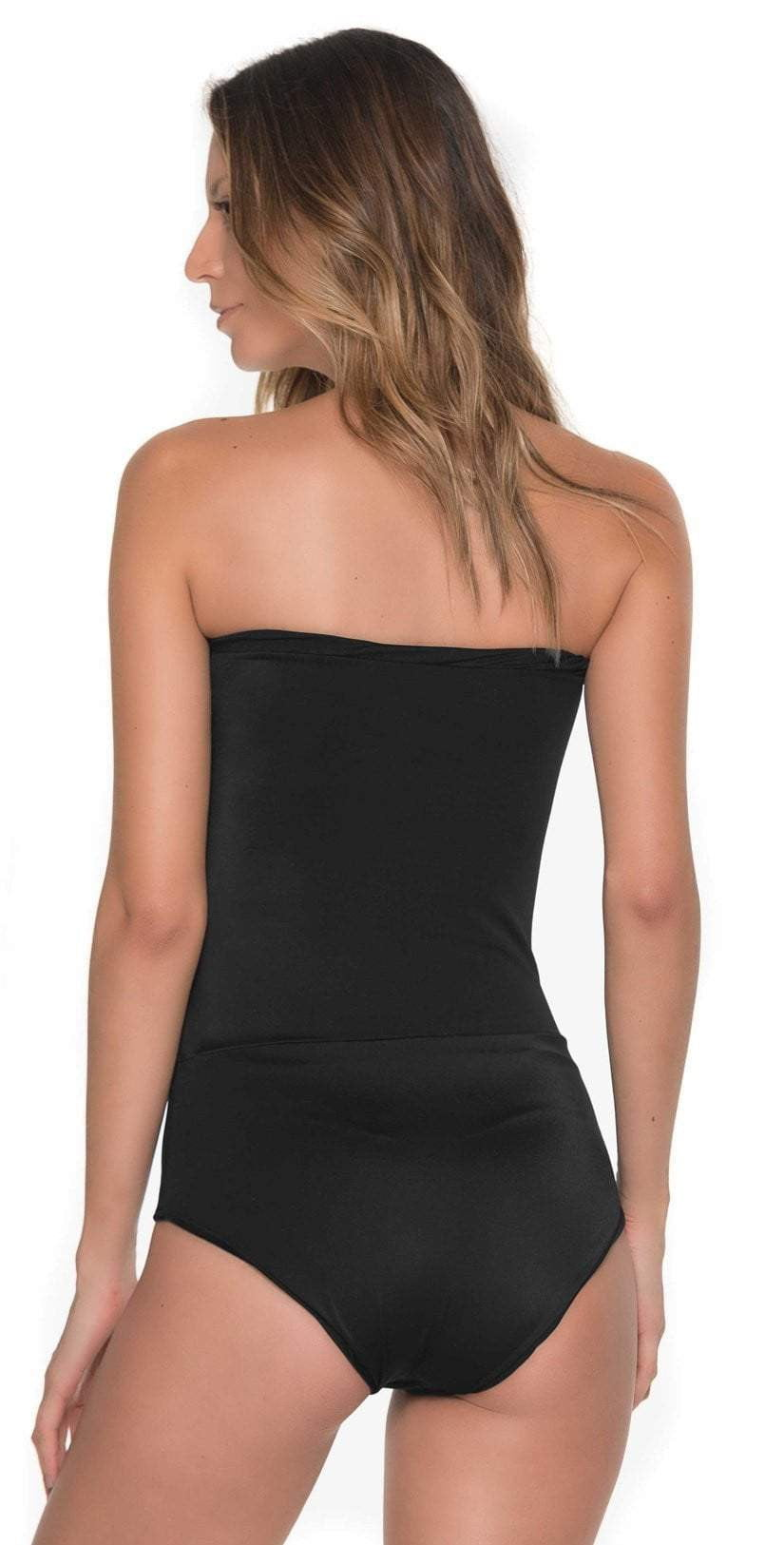 Malai Glam Fishbone One Piece In Black OP0108-BLK: