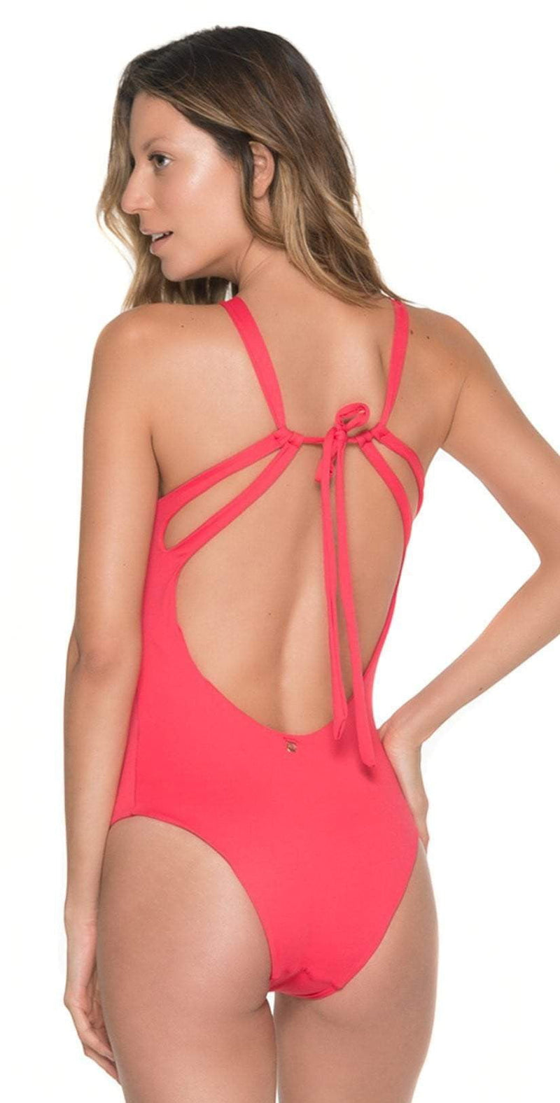 Malai High Neck One Piece in Cherry OP0092: