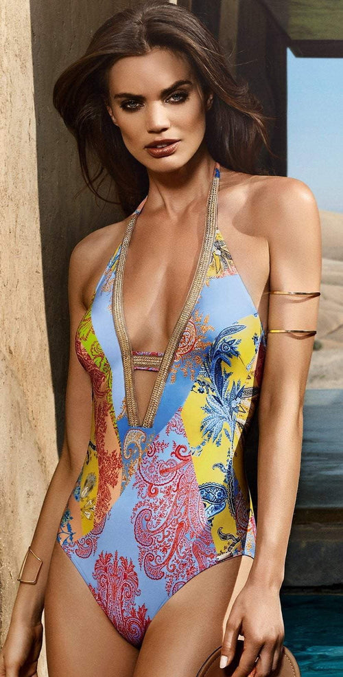 Maryan Mehlhorn Art V-Neck One Piece 8993-514-404