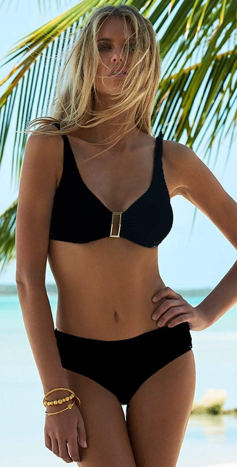 Melissa Odabash Bel Air Bikini Set In Black: