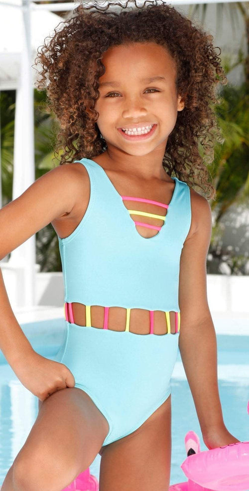 Little Peixoto Girls Jade One Piece in Mint Breeze 51706-S64: