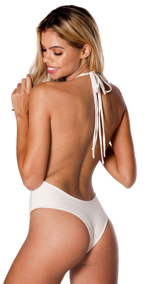 Montce Palmilla Blanco Backless One Piece in Ivory: