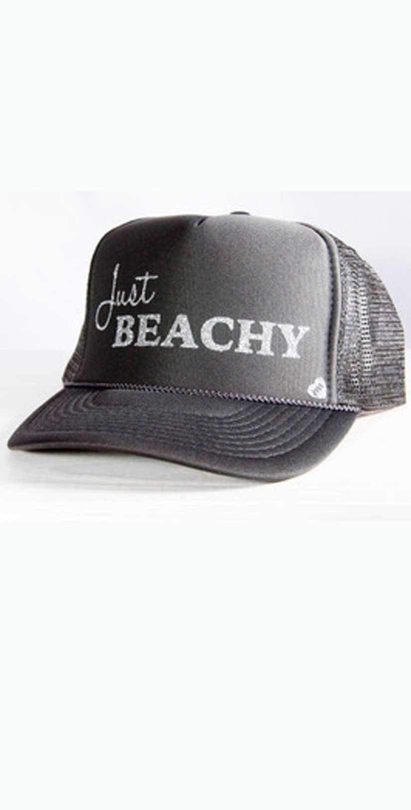 Mother Trucker Just Beachy Hat In Charcoal: