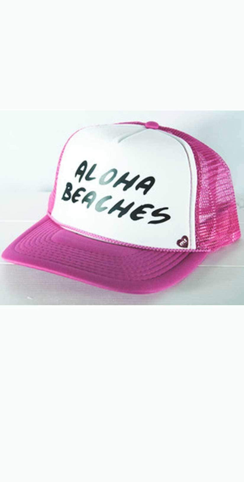 Mother Trucker Aloha Beaches Hat In Pink: