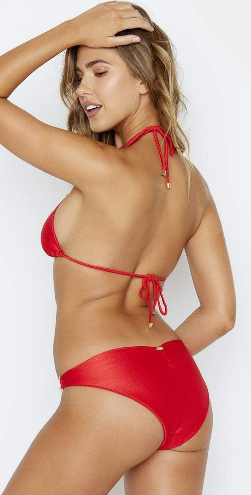 Beach Bunny Nadia Triangle Top in Red B19147T2 REDD back view